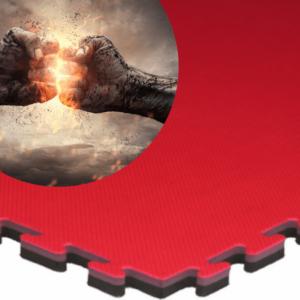 Karate Foam EVA Martial Arts Jigsaw Mats 20mm red black