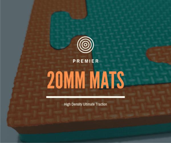 Martial arts green orange 20mm mats