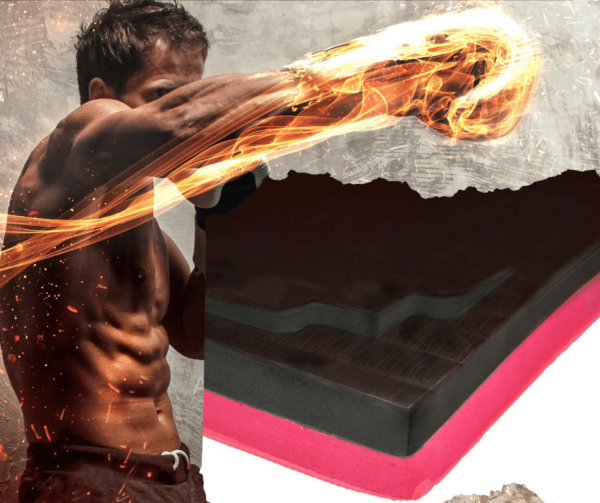 MMA red Black EVA Jigsaw mats
